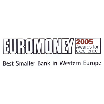 Best Smaller Bank in Western Europe
